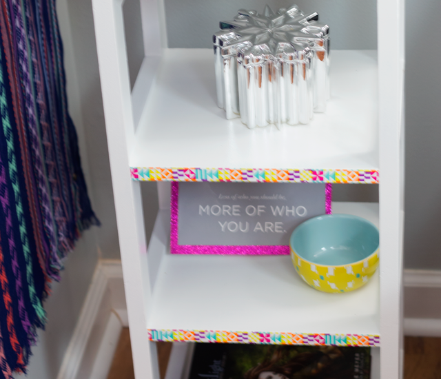 washi tape side table: the makeover story