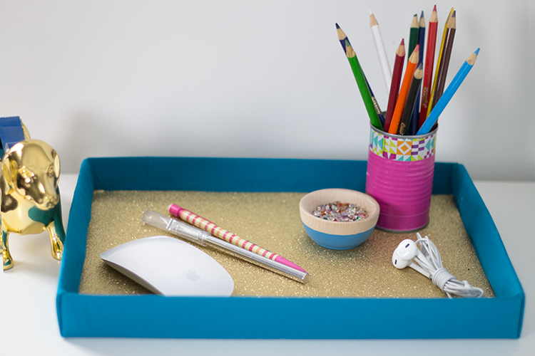 DIY Desk Shoebox Tray Project