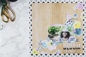 Bloom: A Scrapbook Layout About Risk-Taking
